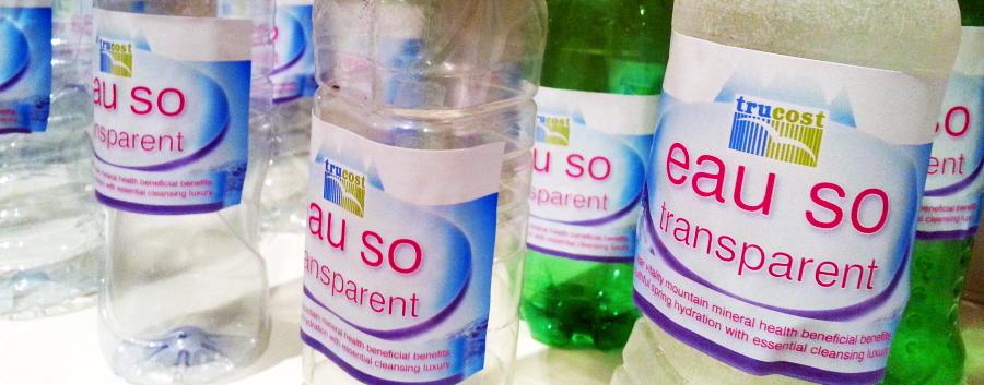 Eau So Transparent Plastic Soupermarket