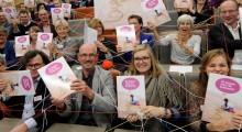 Nijmegen 18 november 2015 - Met het thema 'verbinding tussen mensen, organisaties en ideeën' is het boek 32 lessen voor de toekomst vandaag tijdens het 10 jarig lustrum van de Duurzame PABO gepresenteerd aan landelijke voorvechters voor een duurzame toekomst. Copyright Novum Rob Doolaard