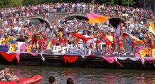 Gay Pride Wasted Soldiers Amsterdam Schoon Canal parade