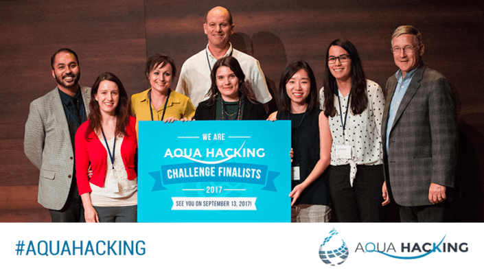 Team PolyGone during Aquahacking Pitch