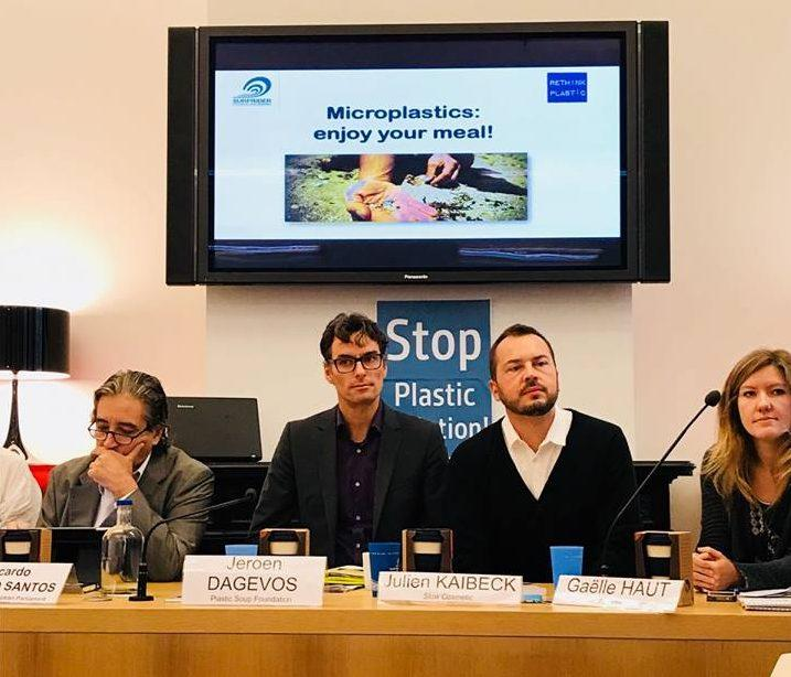 "Jeroen Dagevos at the ""Microplastics: Enjoy your meal"" press conference"