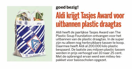 de85408161d Aldi krijgt Tasjes Award voor uitbannen plastic draagtas