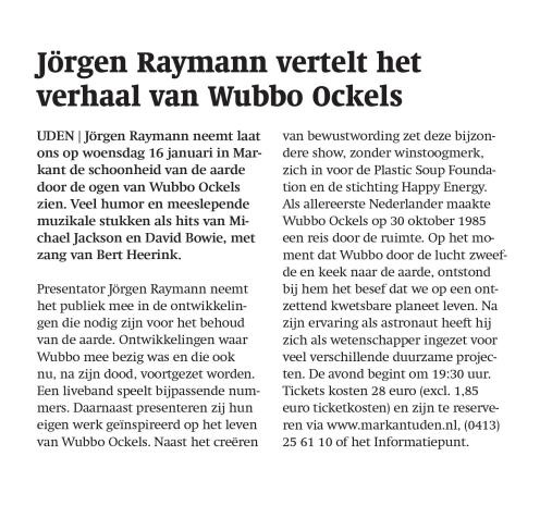 801051d2b57 9 Januari 2019. Udens Weekblad op woensdag.